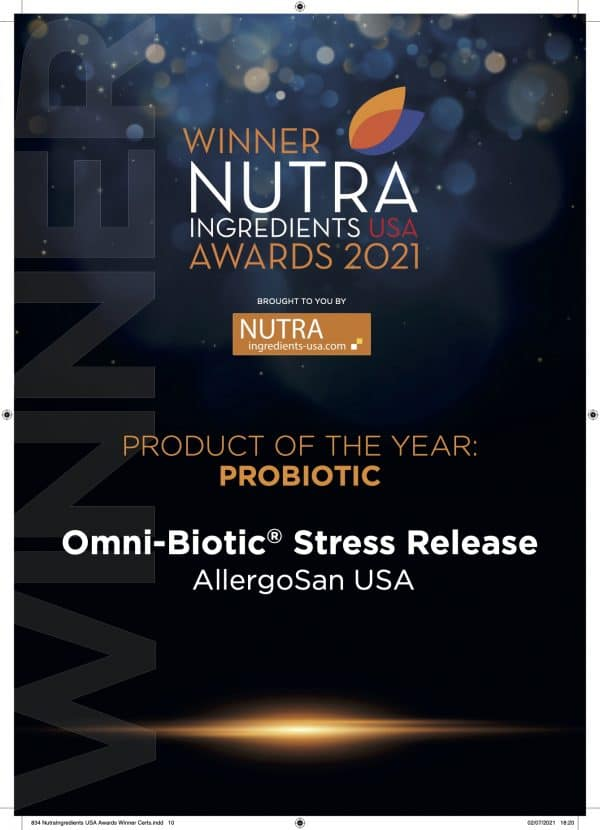 niuawards21 product of the year probiotic