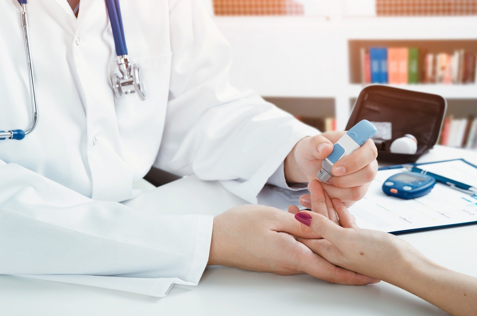 doctor-administering-test-to-patient-with-diabetes