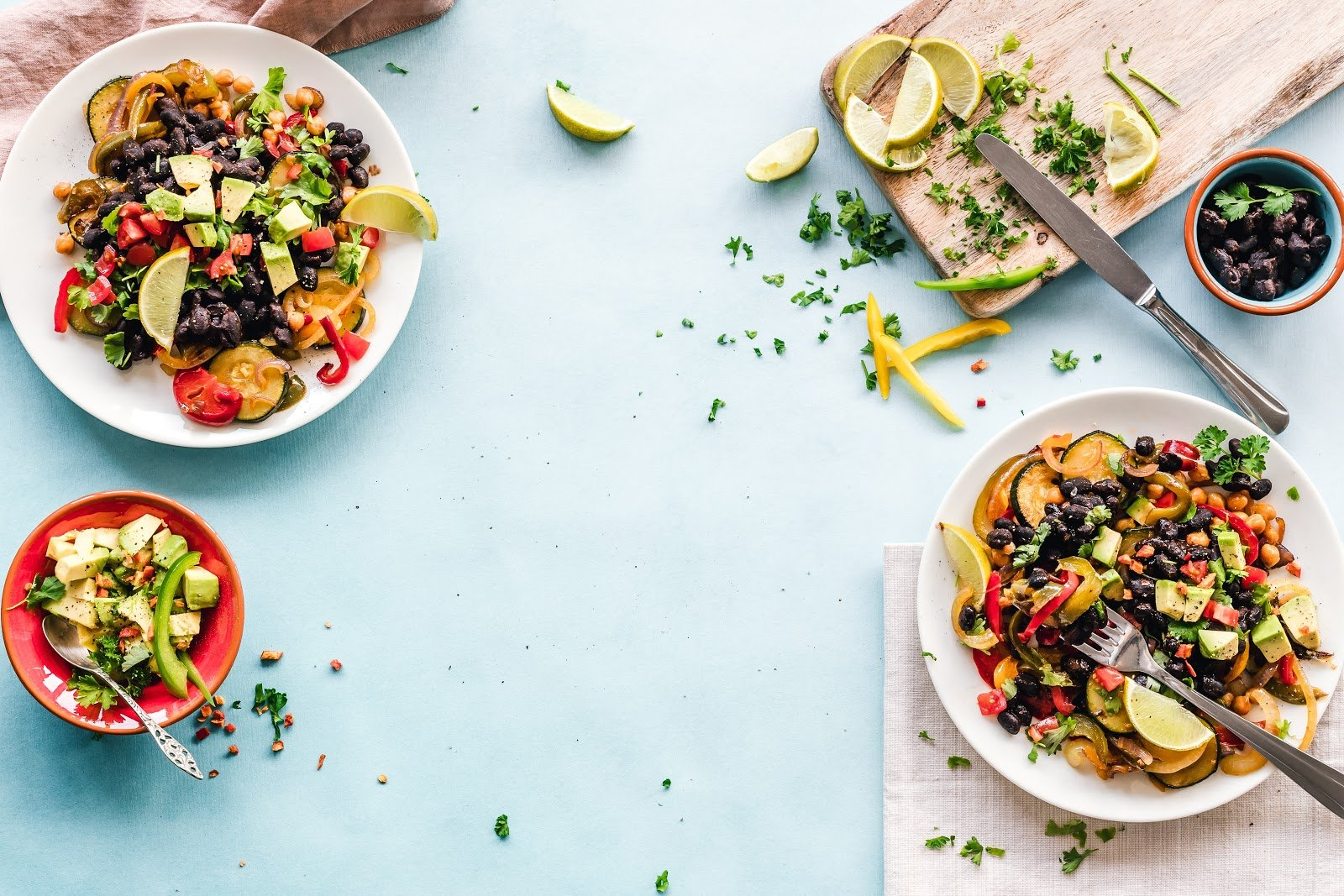 healthy-colorful-food-citrus-zucchini-beans-avocado